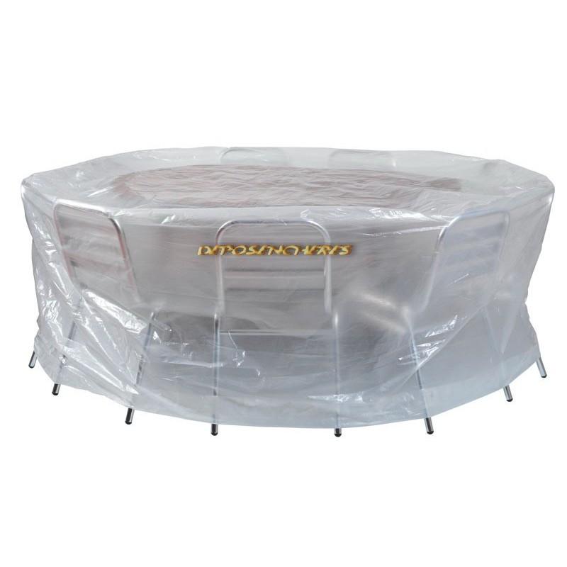 Housse de protection pour salon de jardin rond Ø200x80cm - Shopping-affaires