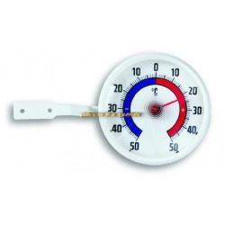 Thermomètre de fenêtre d'extérieur à visser Ø7cm