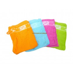 Lot 2 gants de toilette 16x21cm 100% coton