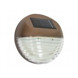 Lampe borne balise solaire applique murale 2 leds