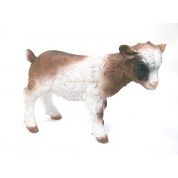 Chevreau marron-blanc en résine haut.31cm